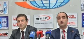 Press conference of the Executive director of the 'National Mortgage Company' Hayk Voskanyan and head of the 'National Social Housing Association' Fund Ara Nazinyan
