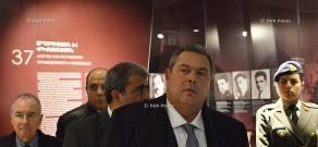 Greek Defense Minister Panos Kammenos visits Tsitsernakaberd Memorial and Armenian Genocide Museum-Institute