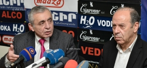 Press conference of Armenian Artists' Union's chairman Karen Aghamyan and head of Composers' Union of Armenia Aram Satyan