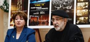 Press conference of singer, composer Vahan Artsruni