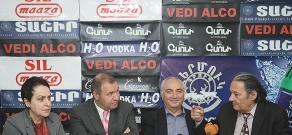 Press conference of Mikayel Melkumyan, Aram Sargsyan, Larisa Alaverdyan and Aharon Adibekyan