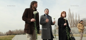 Serbian director and musician Emir Kusturica visits Tsitsernakaberd Memorial and Armenian Genocide Museum-Institute