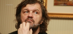 Press conference of Serbian director and musician Emir Kusturica