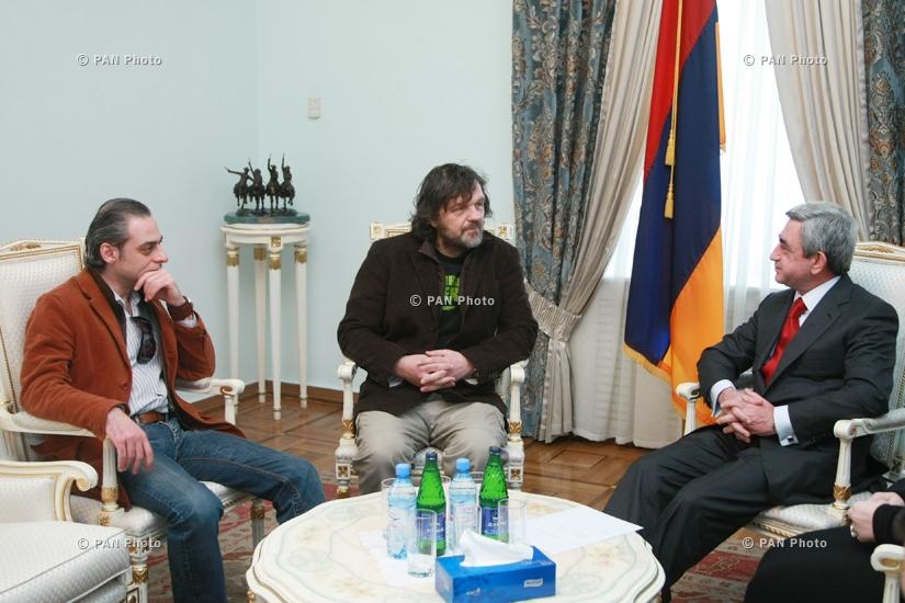Խաչատուր Ալմազյան, Էմիր Կուստուրիցա, Սերժ Սարգսյան