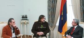 Президент Армении Серж Саргсян принял сербского режиссера и музыканта Эмира Кустурицу