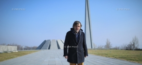 Serbian director and musician Emir Kusturica visits Tsitsernakaberd Memorial