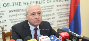 Year-end press conference of Minister of Agriculture Sergo Karapetyan