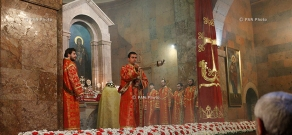 Candlelight Divine Liturgy at Yerevan's Saint Sarkis Cathedral