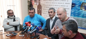 Press conference of members of
