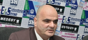 Press conference of lawyer Levon Baghdasaryan