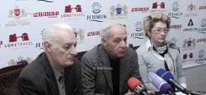 Press conference of the head of Architects' Union Mkrtich Minasyan, architects Anahit Tarkhanyan and Sashur Kalashyan
