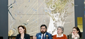 Reporting press conference of National Gallery of Armenia