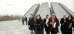French Secretary of State for Development and Francophonie Annick Girardin visits Tsitsernakaberd Memorial and Armenian Genocide Museum-Institute