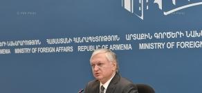 Пресс-конференция Министра иностранных дел Армении Эдварда Налбандяна