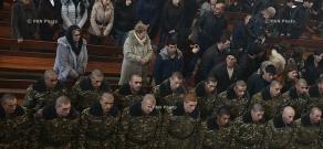 Церемония присяги военнослужащих-срочников воинской части им. А.Озаняна 5-го армейского корпуса ВС РА