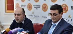 Пресс-конференция Зограпа Еганяна и Самвела Мартиросяна