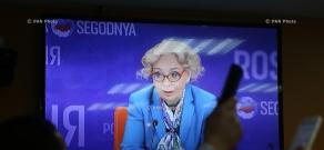 Пресс-конференция члена Коллегии (министр) по основным направлениям интеграции и макроэкономике Евразийской экономической комиссии Татьяны Валовой