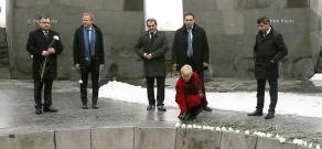 Swedish Foreign Minister Margot Wallström visits Tsitsernakaberd Memorial