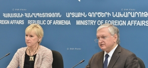 Joint press conference of RA Minister of Foreign Affairs Edward Nalbandyan and Swedish Foreign Minister Margot Wallström