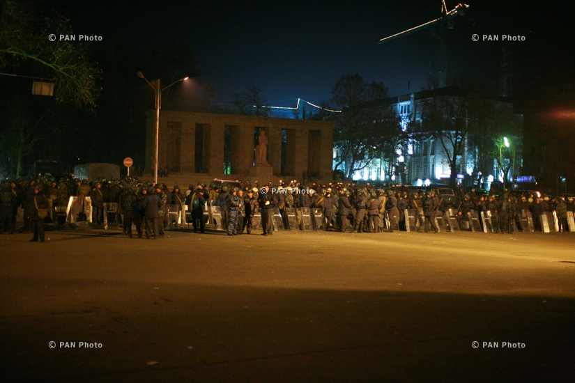 ANC's several-day rallies and protesters dispersed by force in Yerevan