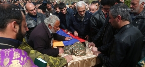 Funeral of contract serviceman Sasun Mkrtchyan, who was killed in the course of military operations on the line of contact between Nagorno Karabakh and Azerbaijan