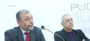 Press conference of Alexander Arzumanyan and Vahan Papazyan