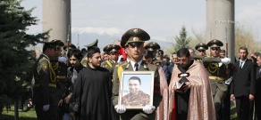 Funeral of captain Armenak Urfanyan in Yerablur Pantheon, who was killed in the course of military operations on the line of contact between Nagorno Karabakh and Azerbaijan