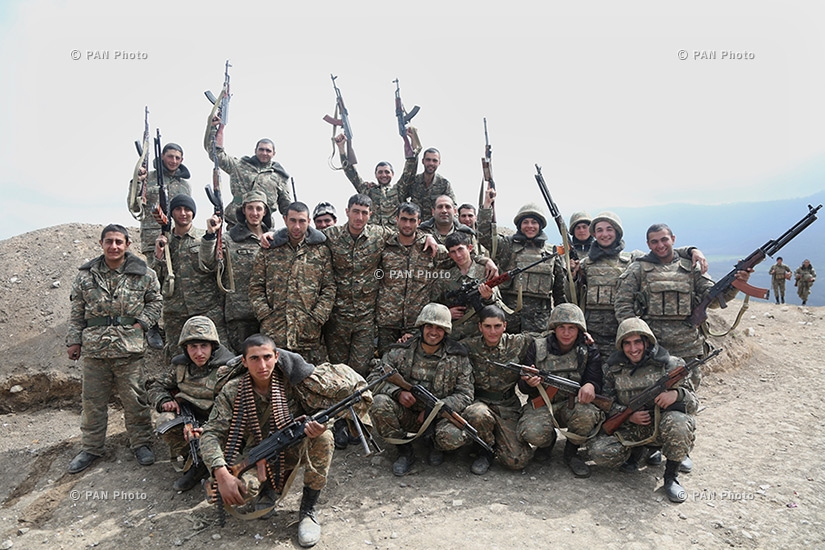 Border guards of the northeastern section of Artsakh frontline