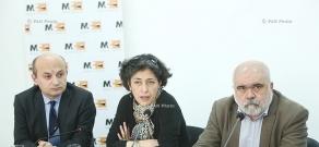Press conference of Alexander Iskandaryan, Stepan Safaryan and Marta Ayvazyan