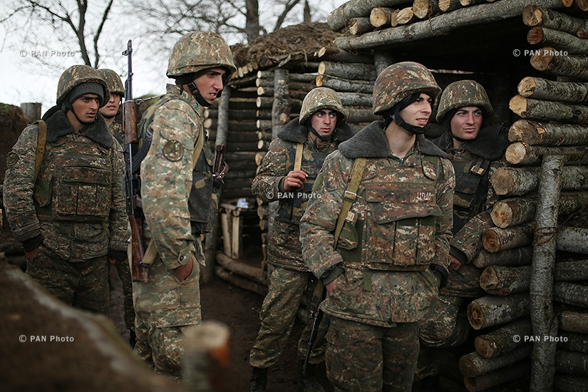 In the military positions of the northern section of Nagorno Karabakh Defense Army