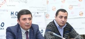 Press conference of Armenia's Liberal Democratic Union department's chairman Artur Levonyan