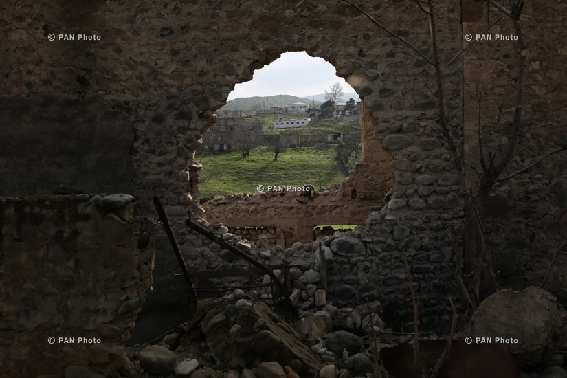 The village of Talish, bordering Azerbaijan in Nagorno-Karabakh's northeast after the military actions