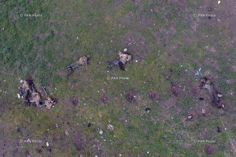 Bodies of Azerbaijani special troops who participated in military actions in the direction of the village of Talish in Nagorno-Karabakh Republic's northeast