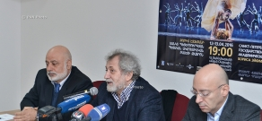 Press conference dedicated to Yerevan tour of St. Petersburg State Academic Ballet Theater