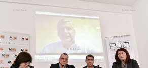 Press conference of Regional Studies Center Director Richard Giragosian and  Caucasus Institute Deputy Director Sergey Minasyan