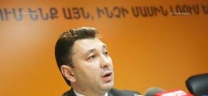 Press conference of Vice Speaker of Armenian parliament Eduard Sharmazanov