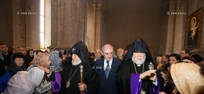 Republican Divine Liturgy at Shushi's Ghazanchetsots Cathedral