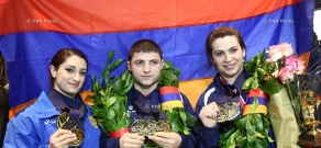 Armenian Weightlifting team arrives in Yerevan