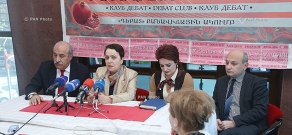 Press conference of RPA member Khosrov Harutyunyan, 'Against Legal Arbitrariness' NGO Chairman Larisa Alaverdyan and President of Armenian Institute for International and Security Affairs Stepan Safaryan