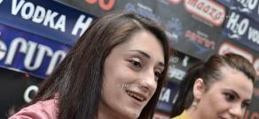 Press conference of Europe's Weightlifting champions Hripsime Khurshudyan and Nazik Avdalyan