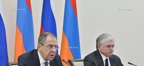 Joint press conference of Armenian Foreign Minister Edward Nalbandyan and Russian Foreign Minister Sergey Lavrov