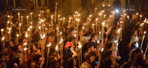Torchlight procession commemorating 101st anniversary of Armenian Genocide