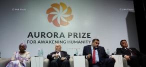 Press conference on the Aurora Prize Ceremony