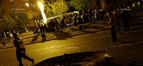 A passenger bus exploded in Yervan's Halabyan street