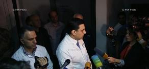 Briefing of Armenian Health Minister Armen Muradyan in Republican Medical Center