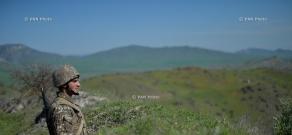 Border guards of Nagorno-Karabakh Defense Army