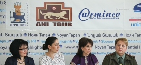 Press conference with the participation of female public figures