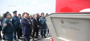 Presentation new vehicles for mible information centers by the Japanese government to Armenia's Ministry of Emergency Situations