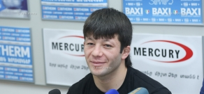 Winner of the OFS 8 international tournament Albert Ghazaryan and chairman of ArmFighting federation Hayk Ghukasyan