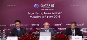 Press conference of Qatar Airways Chief Commercial Officer Hugh Dunleavy on Yerevan-Doha maiden flight